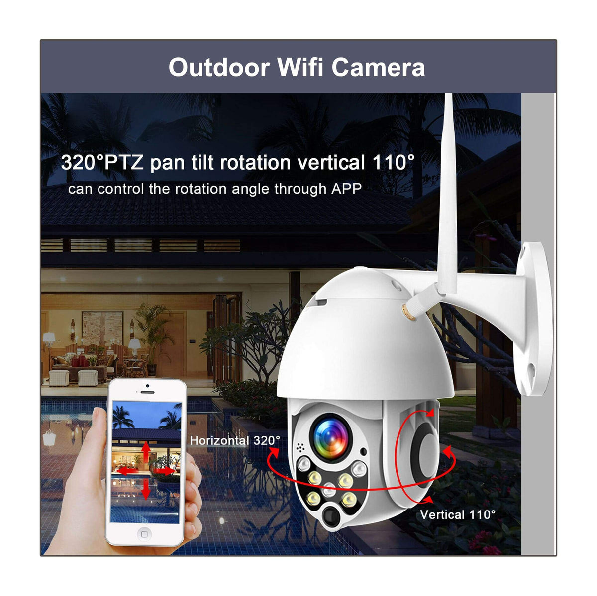 1x Outdoor Wifi Camera