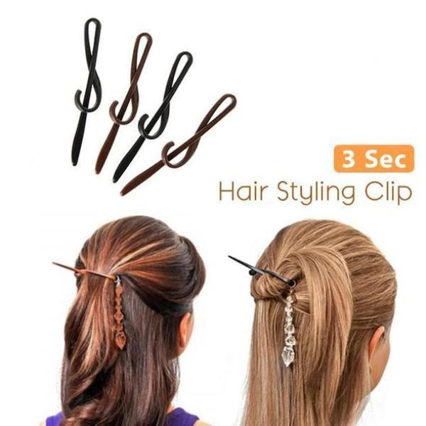 Hair Styling Clip - 3-Second Hair Styling Clip (Pack Of 4)