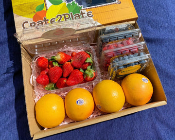 GIFT BOX 4 Berry Medley and Grapefruits
