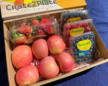 GIFT BOX 4 Berry Medley and Fuji Apples