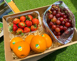 Gift Box Red Grapes, Strawberries and Navel Oranges