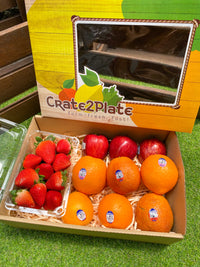 Gift Box DRSCL Strawberries | US Navel/Blood/Caracara Oranges | US Red Apples