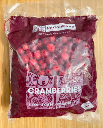 Frozen Cranberries (1kg)