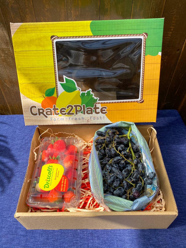 Gift Box Driscoll's Strawberries and US Black Grapes