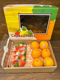 Gift Box Korean Strawberries and Oranges