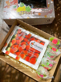 Gift Box KOR Strawberries 900gms|TWN Red Guava
