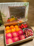 Gift Box US Strawberries, Grapes, Oranges and Fuji Apples