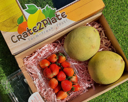 Gift Box Strawberries and Davao Pomelo