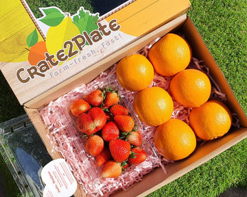 Gift Box Strawberries and US Oranges