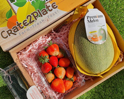 Gift Box Strawberries and Hami Melon