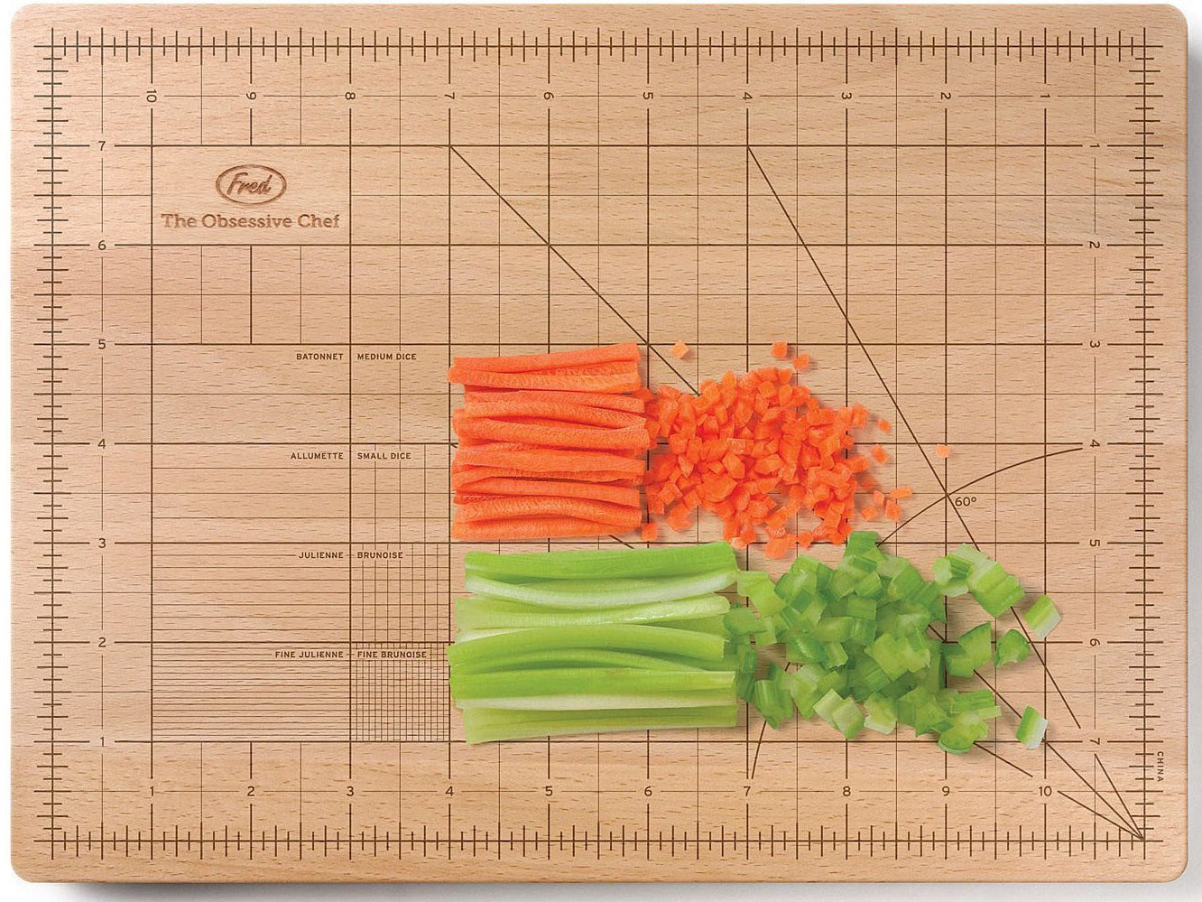 Mathematical chopping board from The Obsessive Chef