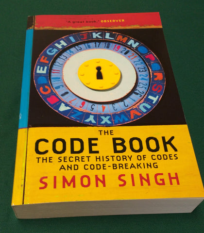 Signed copy of The Code Book by Simon Singh (Paperback)