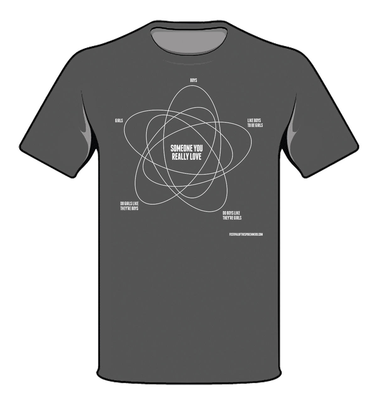 """Girls & Boys"" Venn diagram T-Shirt"