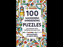 Signed copy of 100 Maddening Mindbending Puzzles (Hardback)