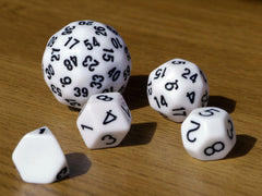 Unique polyhedral dice