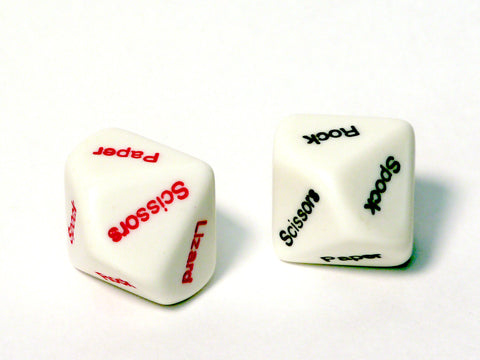 Rock Paper Scissors Lizard Spock dice