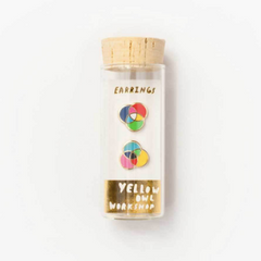 RGB/CMYK earrings in packaging