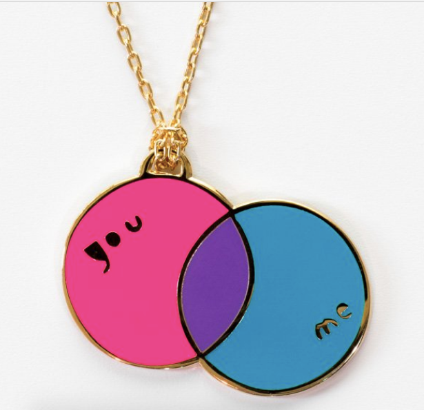 You/Me Venn necklace - pendant