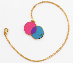 You/Me Venn necklace - on chain