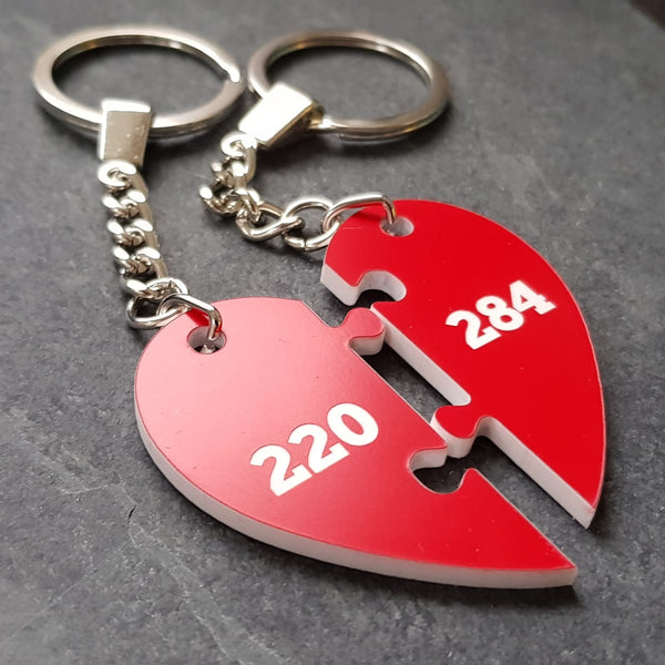 a1173d0dd Amicable Numbers pair of keyrings – Maths Gear - Mathematical ...