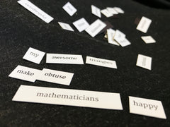 Maths Gear Magnetic Poetry Set