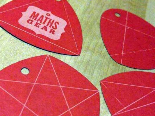 Maths Gear Christmas Tags of Constant Width - set of four