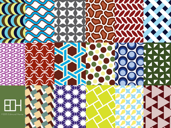 symmetry groups wrapping paper maths gear mathematical
