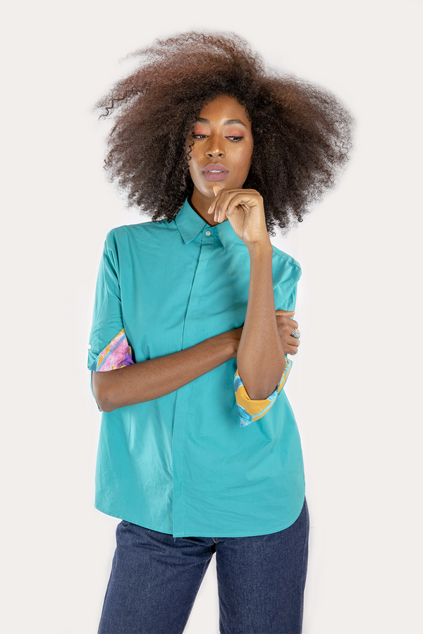 The Inspired Teal Crisp Shirt
