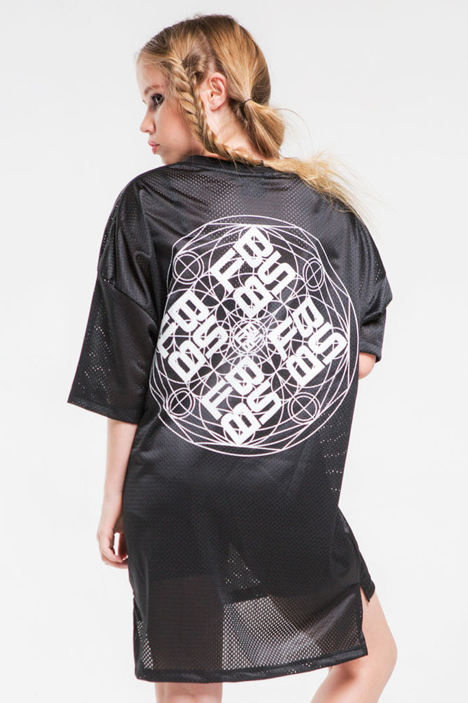 Geo Mesh T | Girls | Black