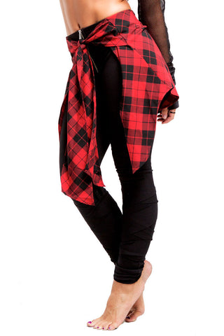 2nd Skin Wrap Legging | Girls | Black & Red