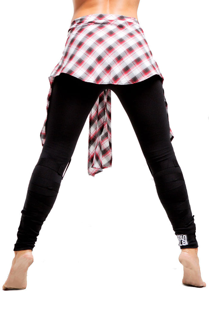 2nd Skin Wrap Legging | Girls | Black White & Red