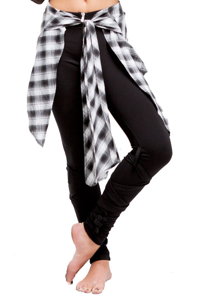 2nd Skin Wrap Legging | Girls | Black & White