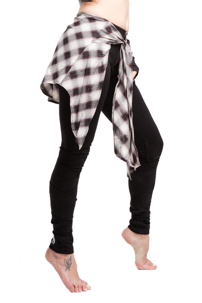 2nd Skin Wrap Legging | Women | Black White & Brown