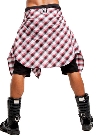 2nd Skin Wrap Shorts | Men | Black White & Red