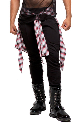 2nd Skin Wrap Sweats | Men | Black White & Red