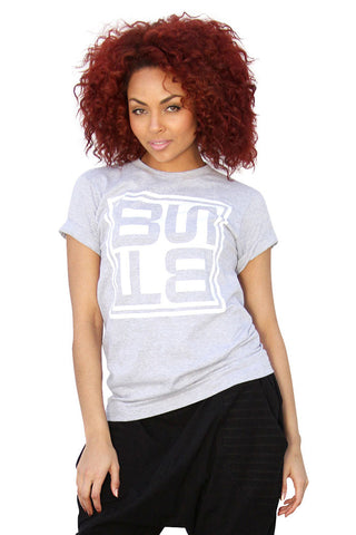 THE LOGO T | GREY W/ WHITE