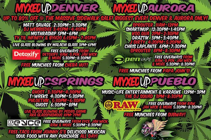 Myxed Up 420 schedule