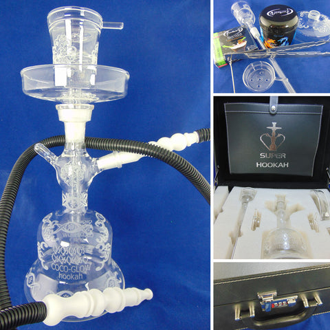 Coco-Glow All Glass Super Hookah