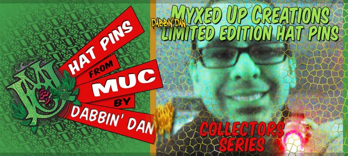 Dabbin Dan Hat Pin Collection exclusively at Myxed Up Creations