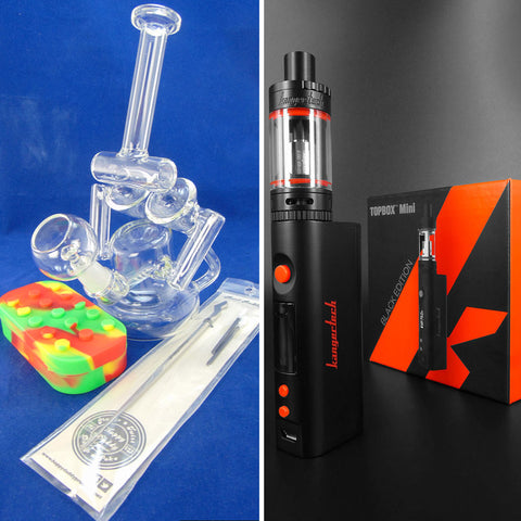 Kanger TopBox Mini Black Edition or Rig with dabber and Lego Silicone Jar