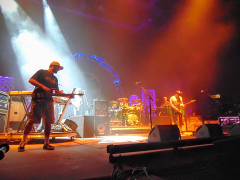 Miles and Kyle of Slightly Stoopid on the Red Rocks Stage