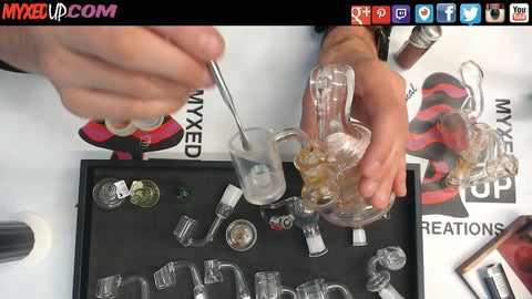 Placing Dab Into Quartz Banger