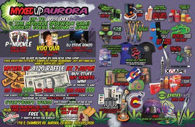 Aurora Myxed Up 420 Flyer Inside
