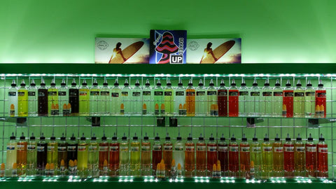 The full line up of JJuice at the Vapor Bar