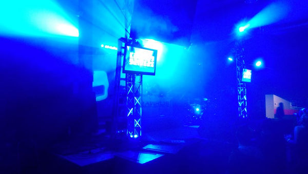 Krooked Drivers stage lights up during CO WNTR 2015 TOUR at Rawkus in Colorado Springs