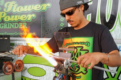 Live glassblowing at Myxed Up Denver by Malachi