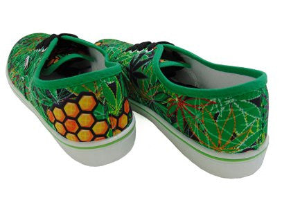 marijuana pot leaf myxed up shoes