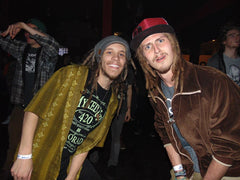 Myxed Up Creations crew Brian Bubz, and Logan AKA Sleepy Tree, during CO WNTR 2015 TOUR at Rawkus in Colorado Springs