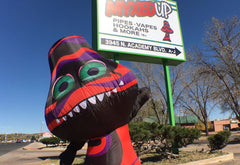 Life sized Myxed Up Mushroom makes his way to Colorado Springs