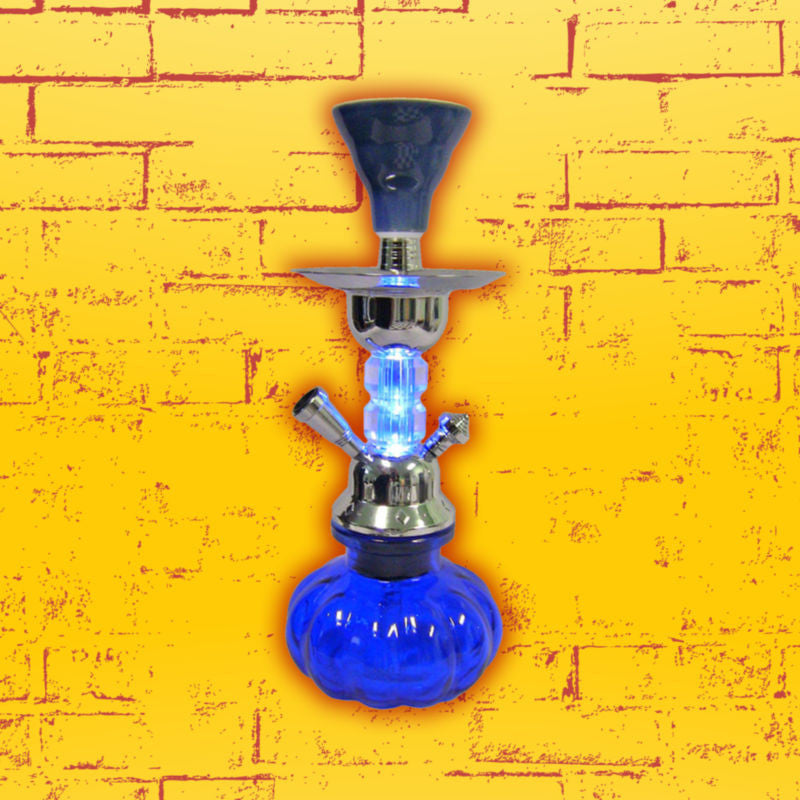 10 inch blue hookah with built in light